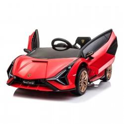 Ηλεκτροκίνητο Παιδικό Αυτοκίνητο Licensed Lamborghini Sian 12V σε Κόκκινο Χρώμα