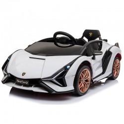 Ηλεκτροκίνητο Παιδικό Αυτοκίνητο Licensed Lamborghini Sian 12V σε Λευκο Χρώμα
