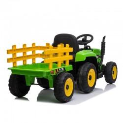 Ηλεκτροκίνητο Παιδικό Τρακτέρ 12V Με Trailer σε Πράσινο χρώμα