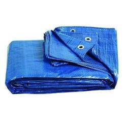 Ελαιοπανο-Μουσαμάς Aδιάβροχος με Κρίκους 4x5m Μπλε Κρικους Ανα 1 Μετρο