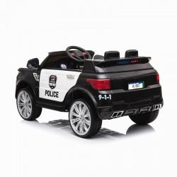 Ηλεκτροκίνητο παιδικό αυτοκίνητο POLICE σε μαύρο 12V