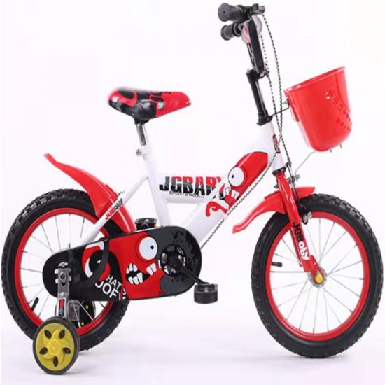 Παιδικό ποδήλατο 18 ίντσες με βοηθητικές ρόδες σε Κόκκινο-Λευκό
