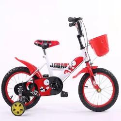 Παιδικό ποδήλατο 16 ίντσες με βοηθητικές ρόδες σε Κόκκινο-Λευκό