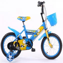 Παιδικό ποδήλατο 18 ίντσες με βοηθητικές ρόδες σε Κίτρινο-Μπλέ