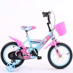 Παιδικό ποδήλατο 16 ίντσες με βοηθητικές ρόδες σε ροζ-γαλάζιο