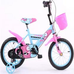 Παιδικό ποδήλατο 18 ίντσες με βοηθητικές ρόδες σε ροζ-γαλάζιο