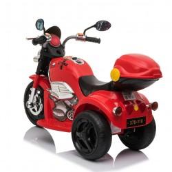 Ηλεκτροκίνητη γουρούνα-μηχανή με μπαγκαζιερα σε κοκκινο