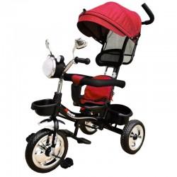OEM Παιδικό Τρίκυκλο Ποδήλατο Με Σκίαστρο Και Μπάρα Καθοδήγησης με μουσική και φανάρι για ηλικία απο 1 εώς 4 ετών Σε κόκκινο