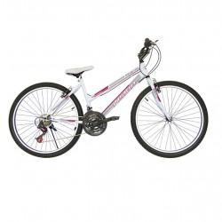Ποδήλατο mountain EROS 26'' ίντσες λευκό-ροζ με  21 ταχύτητες