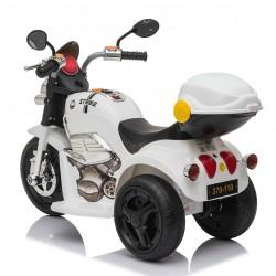 Ηλεκτροκίνητη γουρούνα-μηχανή με μπαγκαζιερα σε λευκο